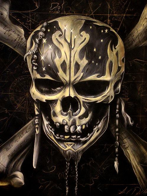 Dead Men Tell No Tales Skull PRINT