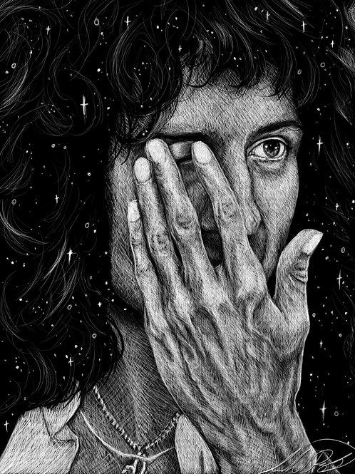 Brian May Hand Study - PRINT