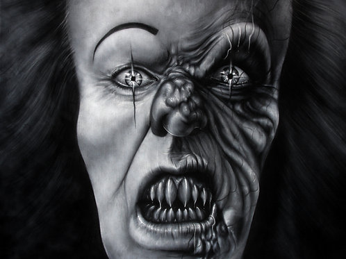 Tim Curry Pennywise Black & White - PRINT