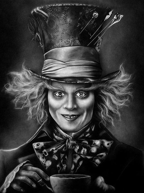 Mad Hatter (B&W) PRINT