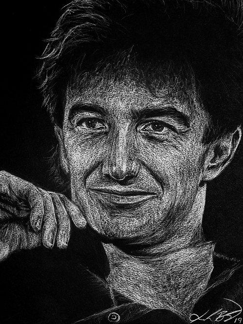 John Deacon Charcoal Drawing