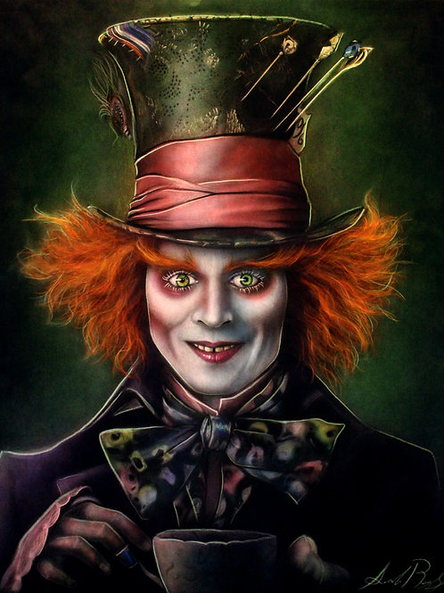 Mad Hatter (Colour) PRINT