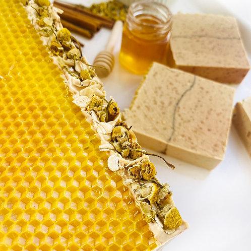 Oatmeal, Cinnamon, & Honey Natural Soap Bars