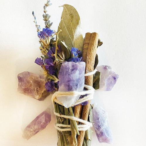 Amethyst Sage Bundle (February Birthstone)