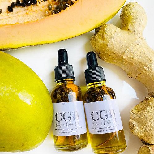 Papaya Mango Ginger Bath & Body Oil