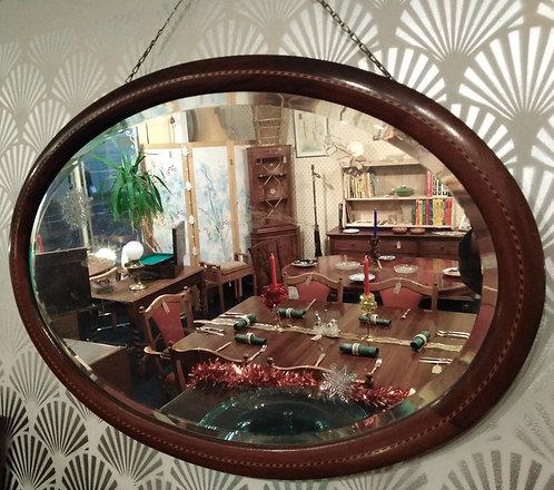 Edwardian Oval Mirror