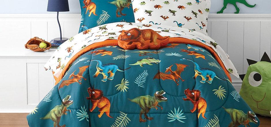 Kids Dino Bed in a bag Set
