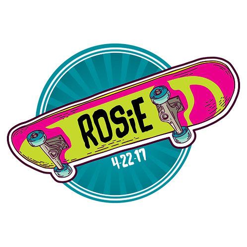 Bat Mitzvah/Party Personalized Custom Logo - Skateboard Theme