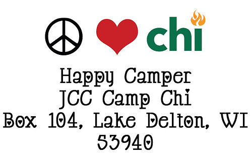 Peace Love Camp Return Address Labels