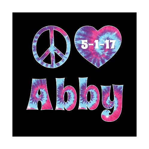 Bat Mitzvah/Party Personalized Custom Logo - Peace Love Tie Dye Theme