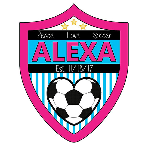 Bat Mitzvah/Party Personalized Custom Logo - Soccer Theme