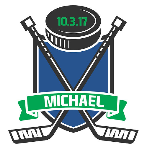Bar Mitzvah/Party Personalized Custom Logo - Hockey Theme