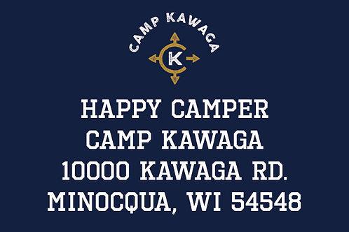 Camp Return Address Labels for Boys