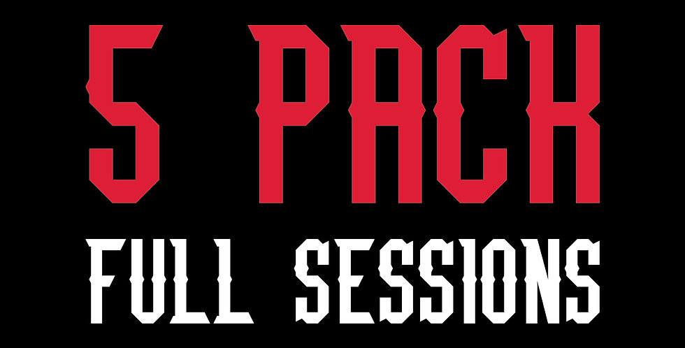 5 PACK FULL SESSIONS