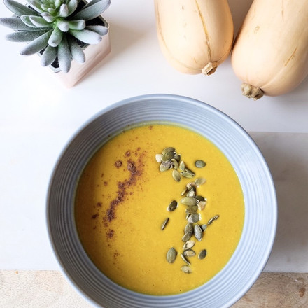 Curry Roasted Butternut Squash Soup (Vegan)