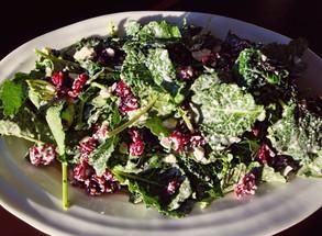 Baby Kale & Cranberry Salad