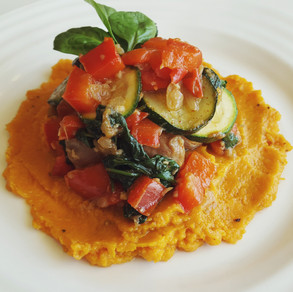 Sweet Potato Mash & Vegetable Medley