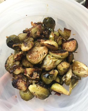 Roasted Brussel Sprouts with Savoury Vinaigrette