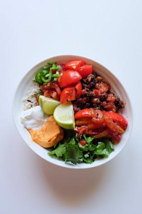 Super Simple Vegan Burrito Bowl
