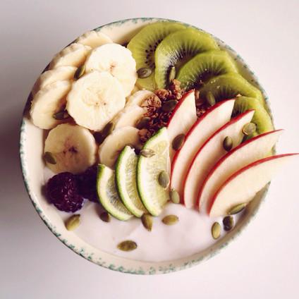 Organic Yogurt & Fresh Fruit