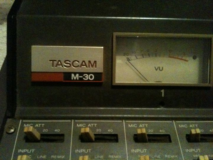 Close up of the TASCAM