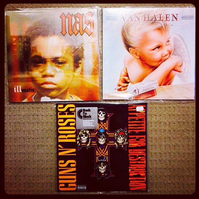 Three new #vinyls to add to the #collection _) #nas #gunsnroses #vanhalen