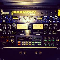 Recording rack including _ _#akai S612 #vintagedigitalsampler_#Art DPS II stereo #preamp_Art Pro VLA