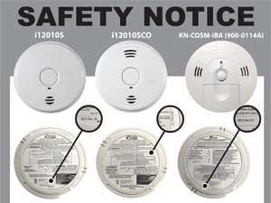 Kidde AC/DC smoke alarm and combination smoke/carbon monoxide alarm recall