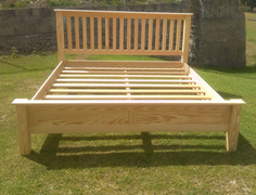 Raw pine bed
