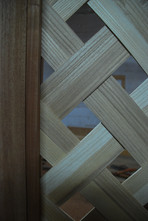 Hand woven room divider