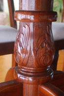 Traditional mahogany pedastle