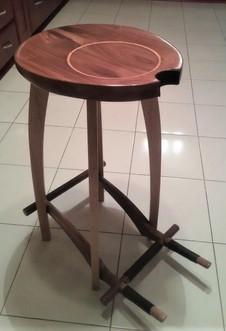 Combined guitar stool and stand