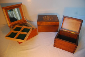 Inlay watch and jewellery boxes