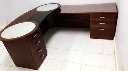 Custom office corner desk