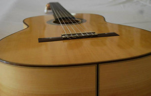 French polished flamenco guitar