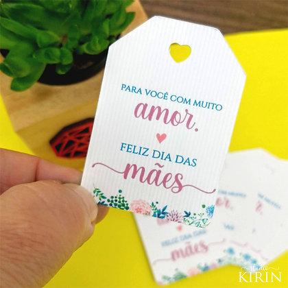 Tag Floral Dia das Mães (kit com 50 unidades)