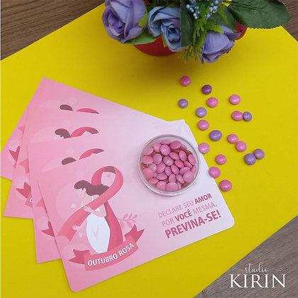 Cartão Confeitos - Outubro Rosa