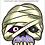 Thumbnail: Máscara Halloween Múmia