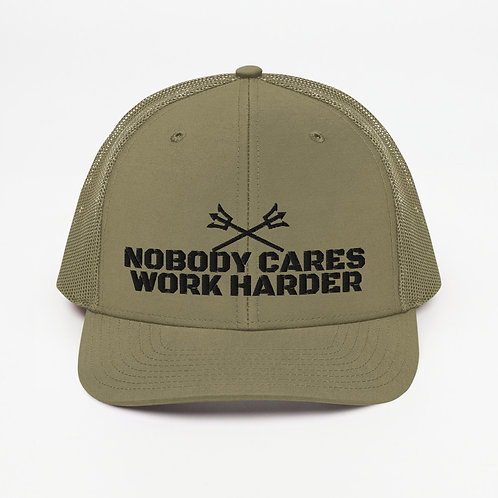 Organic Green Work Harder Trucker Cap