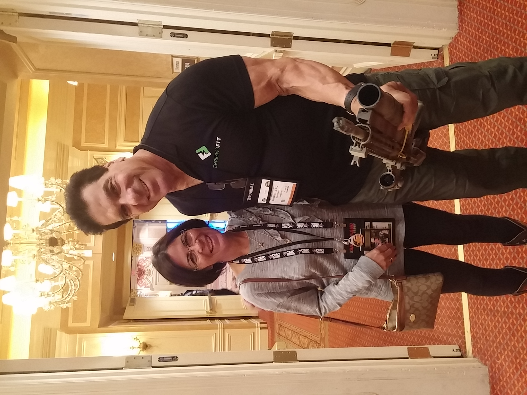 Louis Ferrigno and Cindy holding Dan