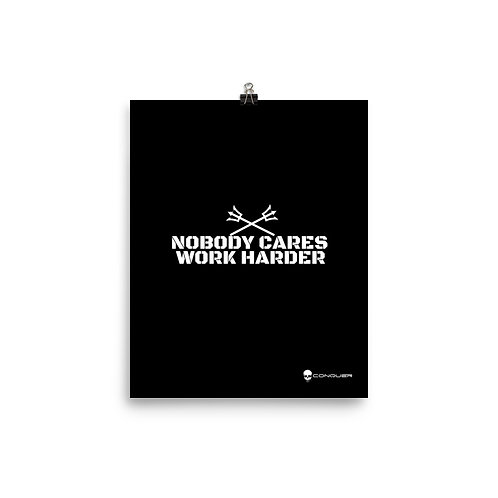 NOBODY CARES paper poster