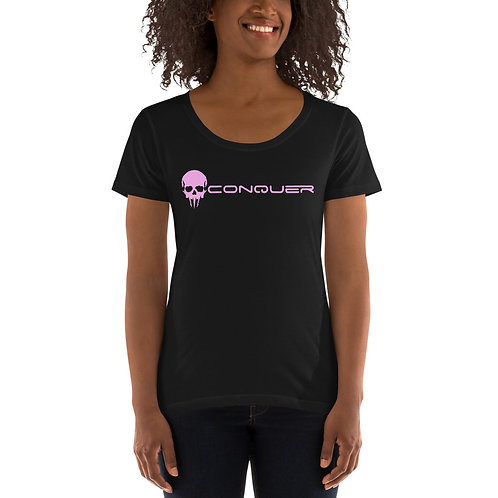Savages Wear Pink Ladies' Scoopneck T-Shirt