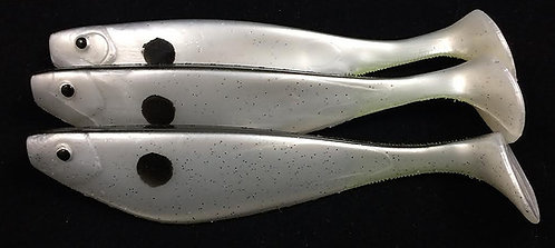 "Sterling White Pearl 6"" Shads"