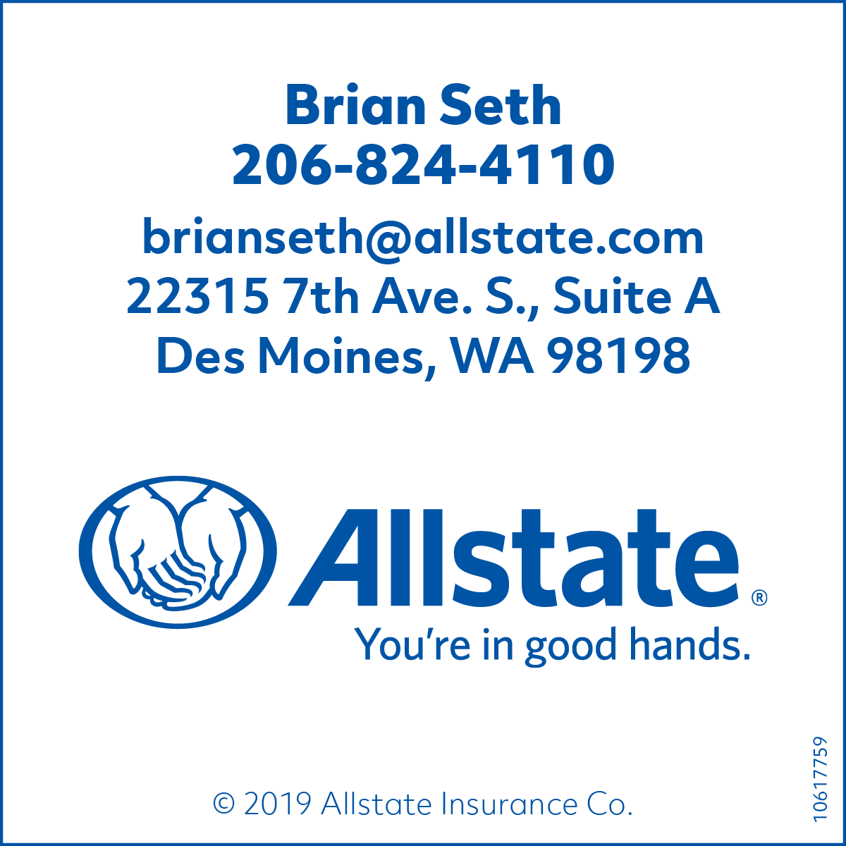 Brian Seth with Allstate