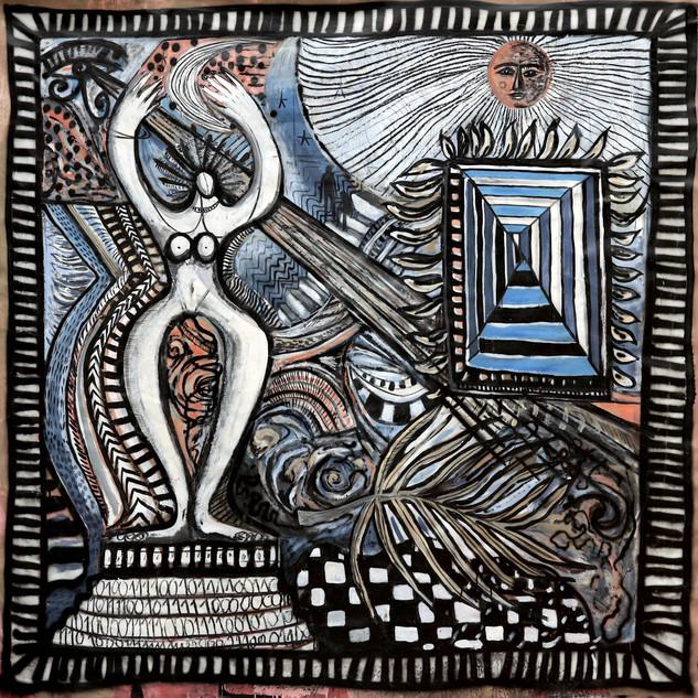 """""""Monde Binaire""""- 180x170cm - Mixed technique"""
