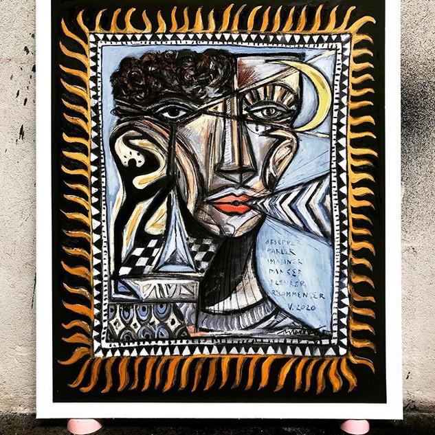 «Portrait de jour et de nuit»- 120x100