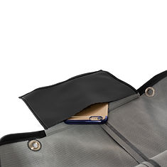530黑膠防水褲口袋