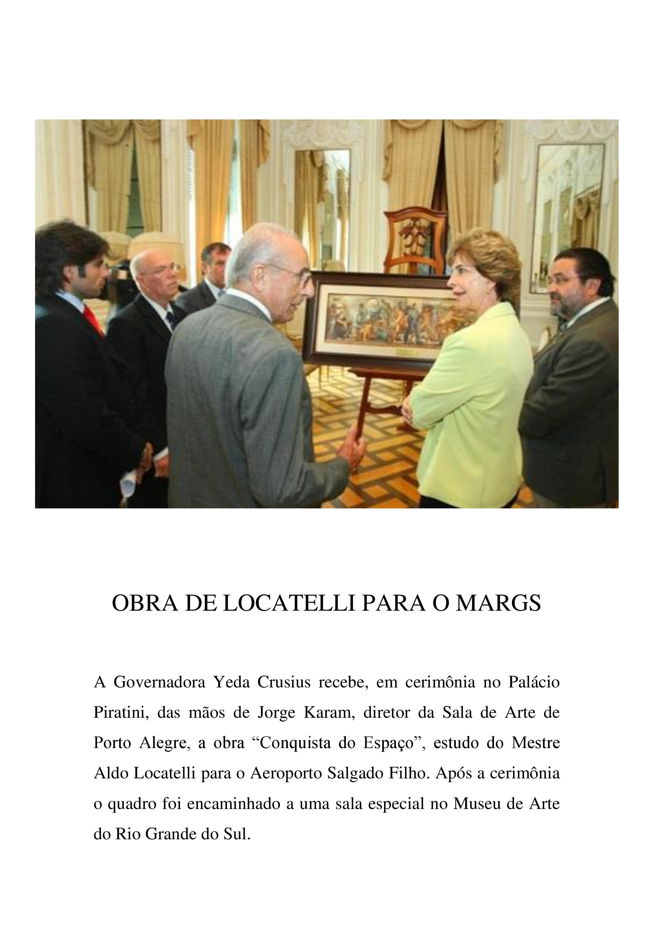 Obra de Locatelli para o MARGS