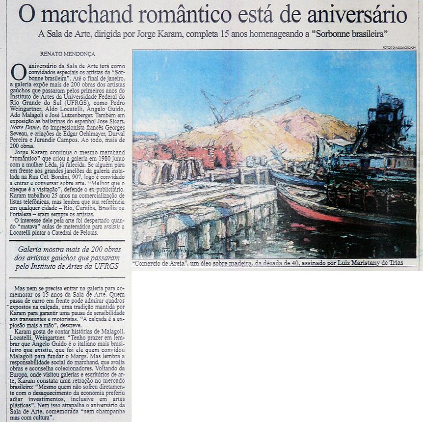 O Marchand Romântico está de Anivers