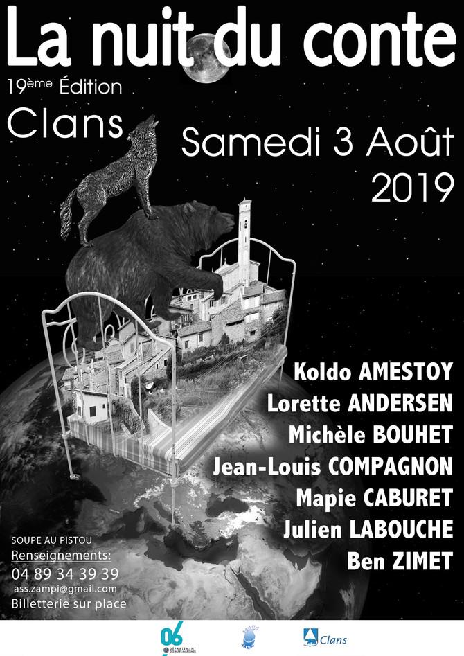 Nuit du conte de Clans Samedi 3 août 2019